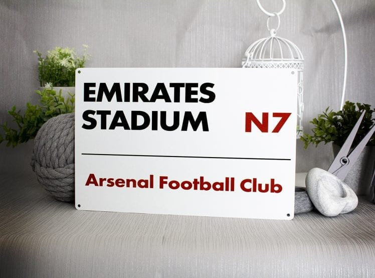 Metal Street Sign Emirates Stadium Arsenal Football Club