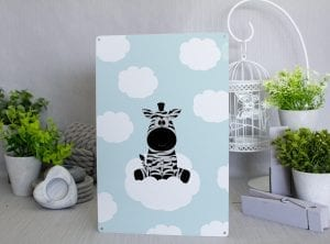 Zebra on a cloud Metal Sign