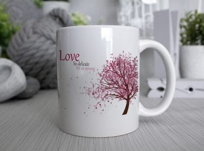 Love so delicate yet so strong Mug