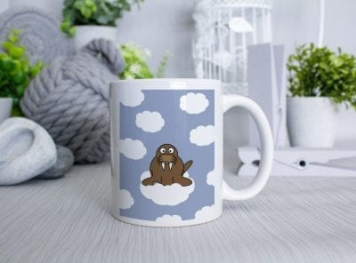 Walrus on a cloud mug