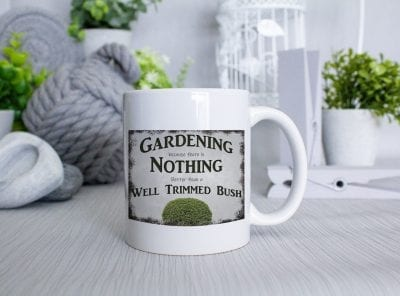 Well trimmed bush Gardening Mug