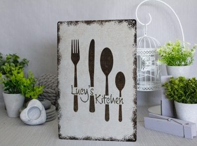 Customised Kitchen Metal Sign