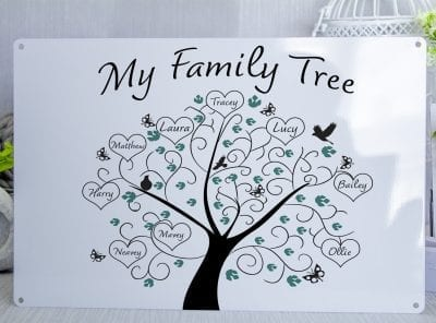 My Family Tree Customised Metal Sign