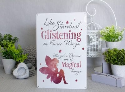 Like Stardust Glistening on Fairies Wings Metal Sign