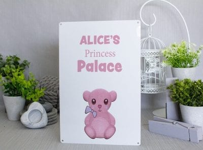 Princess Palace Pink Metal SIgn