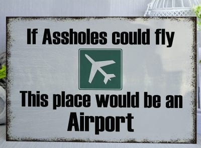 If assholes could fly Metal Sign