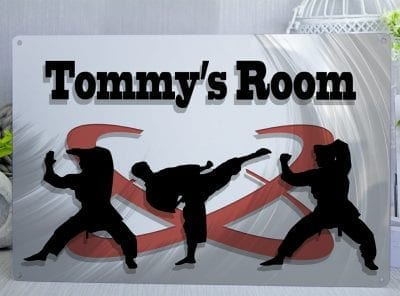 Customised Martial Arts Kids Room  Metal Sign