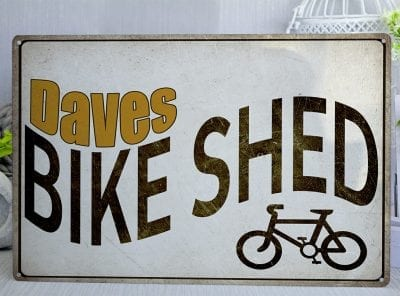 Customised Bicycle Shed Metal Sign