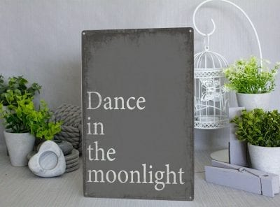 Dance in the Moonlight Metal Sign