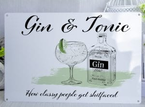 Gin – How classy people get shitfaced Metal Sign