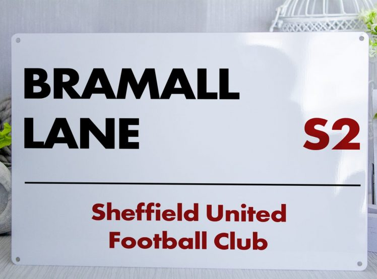 White black and red Sheffield United FC Bramall Lane Metal Street Sign