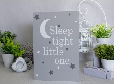 Sleep Tight Little One Metal Sign