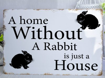 A home without a Rabbit jpg Metal Sign