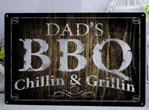 Personalised BBQ Metal Sign