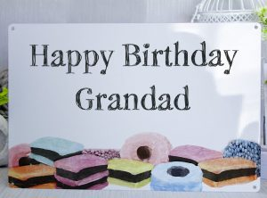 Happy Birthday Grandad Liqourice Allsorts