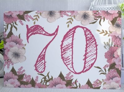 Personalised Floral Sign with Pink Text Metal Sign