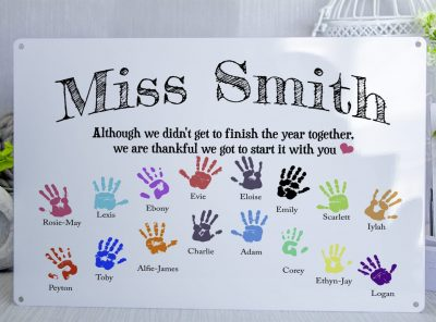 Personalised Gift for teachers Metal Sign