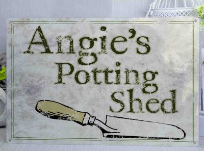Personalised Potting Shed Metal Sign