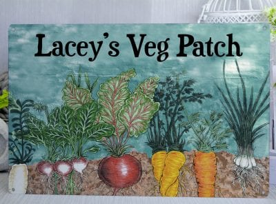 Personalised Veg Patch Metal Sign