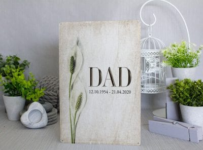 Personlaised Rememberence Lillys Metal Sign
