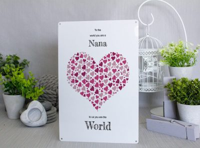 To the world you are a Nana Metal Sign